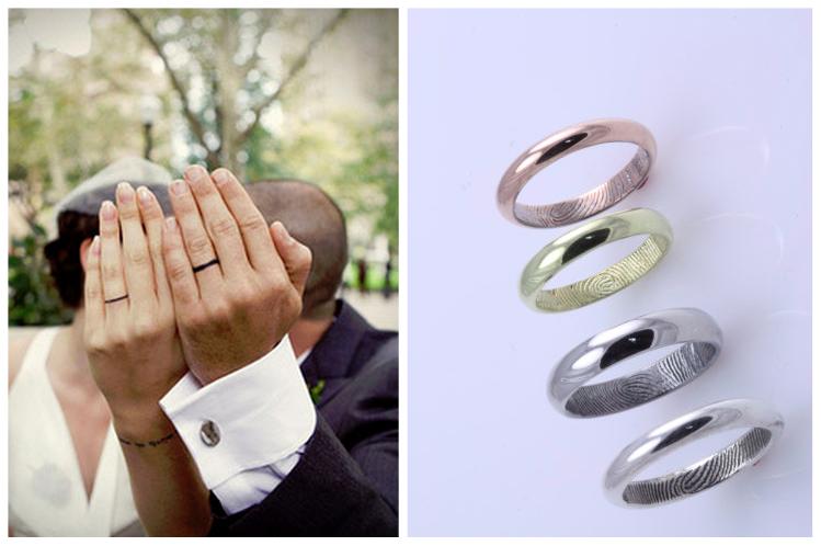 Alianças personalizadas mostram estilo do casal